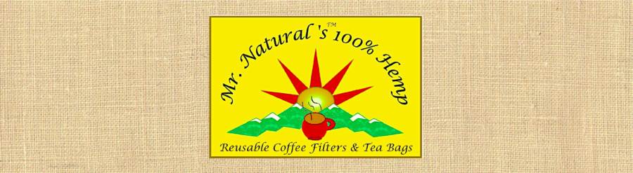 Mr. Natural's Reusable Hemp Coffee Filters & Tea Bags
